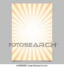 Gradient Sunshine Ray Design Flyer Template Vector