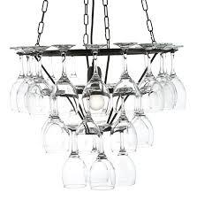 wine glass chandelier frame