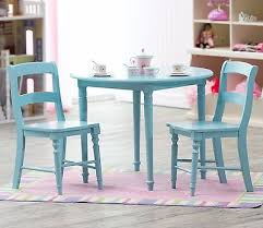 wonderful blue childrens table chair set round spindle wood kids inside children s dining ideas 3