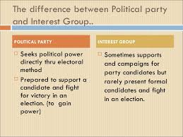 political parties and interest groups   3 the difference between political party