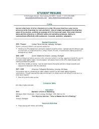 College Student Sample Resume Musiccityspiritsandcocktail Com