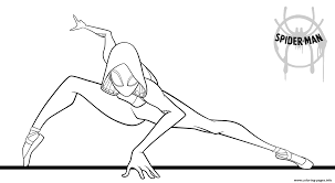 Friendly neighborhood spiderman coloring page. Spider Girl Coloring Pages Printable