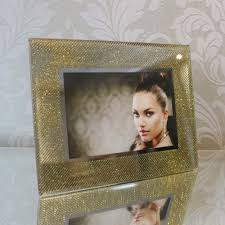 Christmas Fashion Gift Home Decoration Photo Frame Gold Glitter