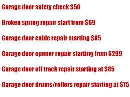 garage door repair list