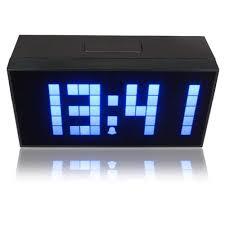 soft blue led light snooze wall desk alarm calendar clock zoom
