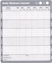 Exercise Log Book Printable Download Them Or Print