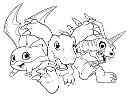 Small Picture Digimon coloring pages patamon agumon gabumon ColoringStar