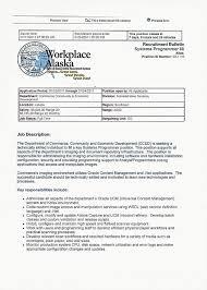 4 1 the recruitment process human resource management a sample job description from workplace alaska