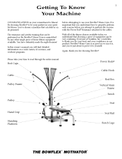Bowflex Motivator Exercise Chart Bowflex Motivator 1 Manual