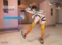 Tracer doggystyle naked Overwatch Hentai