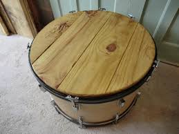 African Drum Coffee Table Unique Shape Drum Coffee Table