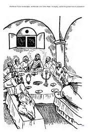 Christelijke Kleurplaten Discipelen Het Laatste Avondmaal Bijbel N T