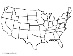 Small Picture Map Of The United States Of America Coloring Page Free Printable