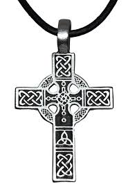 Cross Designs Trilogy Jewelry Pewter Celtic Cross With Triquetra Knot Design Pendant Leather Necklace