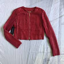 violetmonroe 3 days ago valdese united states guess marciano varenne red leather jacket