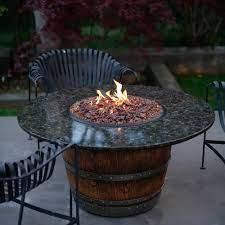 Reserve 42 Inch Wine Barrel Fire Pit Table By Vin De Flame Dining Height Polished Uba Tuba Top 65 000 Btu Match Light Burner Bbqguys
