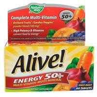 Nature's Way, <b>Alive</b>! <b>Energy 50+</b>, <b>Multivitamin-Multimineral</b>, Adults ...