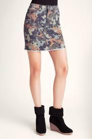 Kensie Clothing Size Chart Kensie Jeans Puzzle Camo Denim Mini Skirt