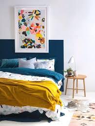 10 Astuces Dacco Pas Chares Pour Fabriquer Une Tate De Lit Deux Tete  Peinture Bleu Canard .