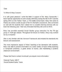 Tenure Recommendation Letter From Student Example 13 Letters Of Recommendation For Teacher Sample