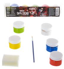 global colours high quality day of the dead face and paint set close up image