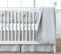 grey and white crib bedding elephant
