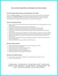 Call Center Job Description Template Agent Resume Sample