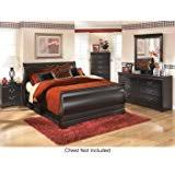 Ashley Huey Vineyard Queen Bedroom Set With Sleigh Bed Dresser Mirror And  Nightstand In