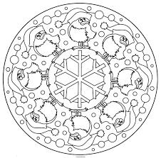Dessin A Imprimer Mandala De Noel L L