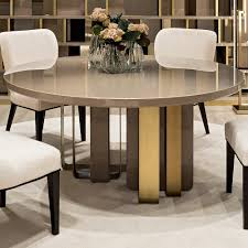 luxury italian round lacquered designer dining table
