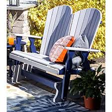Garden Furniture Image Unavailable Rocking Furniture Amazoncom Leisure Lawns Amish Made Recycled Plastic 4 Fanback
