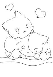 Kawaii Girls Coloring Pages Girl S Cute Page For Kindergarten