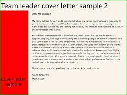 Customer Service Team Leader Cover Letter 56 Excellent Team Leader Resume Sample For 2019