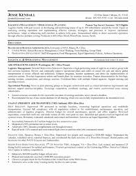 Resume Format For Logistics Manager New Supply Chain Sample Project