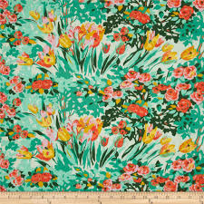 Amy Butler Home Decor Fabric Amy Butler Violette Meadow Blooms Minty Discount Designer Fabric