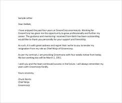 The Free Four Week Notice Of Resignation Letter Template In Is A ...