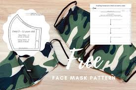 Perfect for hero, villain, or character themed costumes and parties! Printable 3d Face Mask Patterns Olson Pleated Sewing Guide Pdf Beadnova