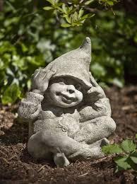 campania international george the elf cast stone garden statue