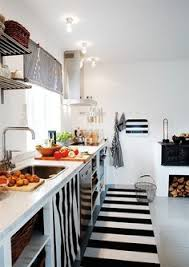Lovely Black And White #simple #style #kitchen Kitchen Rug, Nordic Kitchen, Kitchen