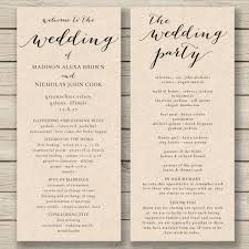 Free Microsoft Word Wedding Program Template Wedding Programs Diy