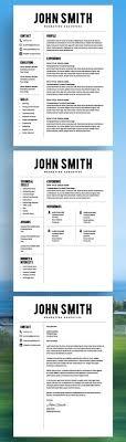 32 Best Resume Templates Images On Pinterest Resume Templates Cv