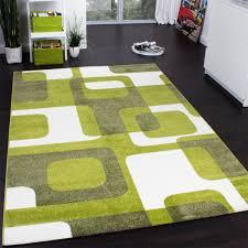designer rug woven trendy retro style green grey cream