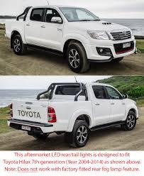 LED Tail Rear Lamp Lights Set Pair For Toyota Hilux KUN 26 SR SR5 ...