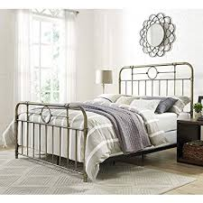 Amazon.com: WE Furniture Queen Metal Pipe Bed, Bronze: Kitchen & Dining