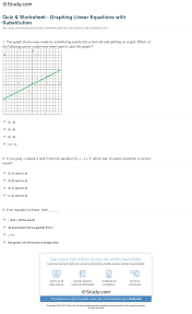print how to graph linear equations by substitution worksheet