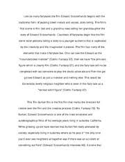 paper on edward scissorhands most fairytale movies end 3 pages essay on the character edward