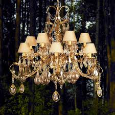 ornate high end gold swarovski crystal chandelier