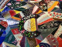 1698 best Crazy quilting... images on Pinterest | Embroidery ... & 1907 crazy quilt- I love these, although I can't see myself actually Adamdwight.com