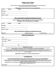Direct Deposit Sheet Form Direct Ohye Mcpgroup Co