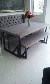 Industrial Style Reclaimed Wood Dining Table And Benches Www